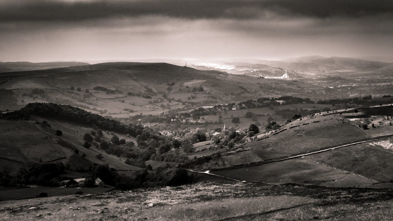 Hathersage and Hope from Higgar Tor