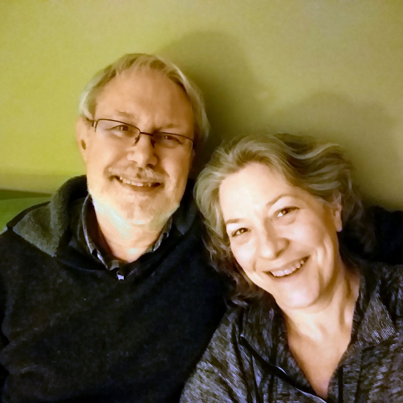 Photograph of Gary Allman and Ginger Allman on their ninth wedding anniversary (2018)