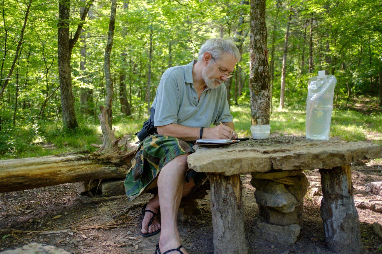 Gary Allman, self portrait at Hercules Glades Wilderness. May 2018.