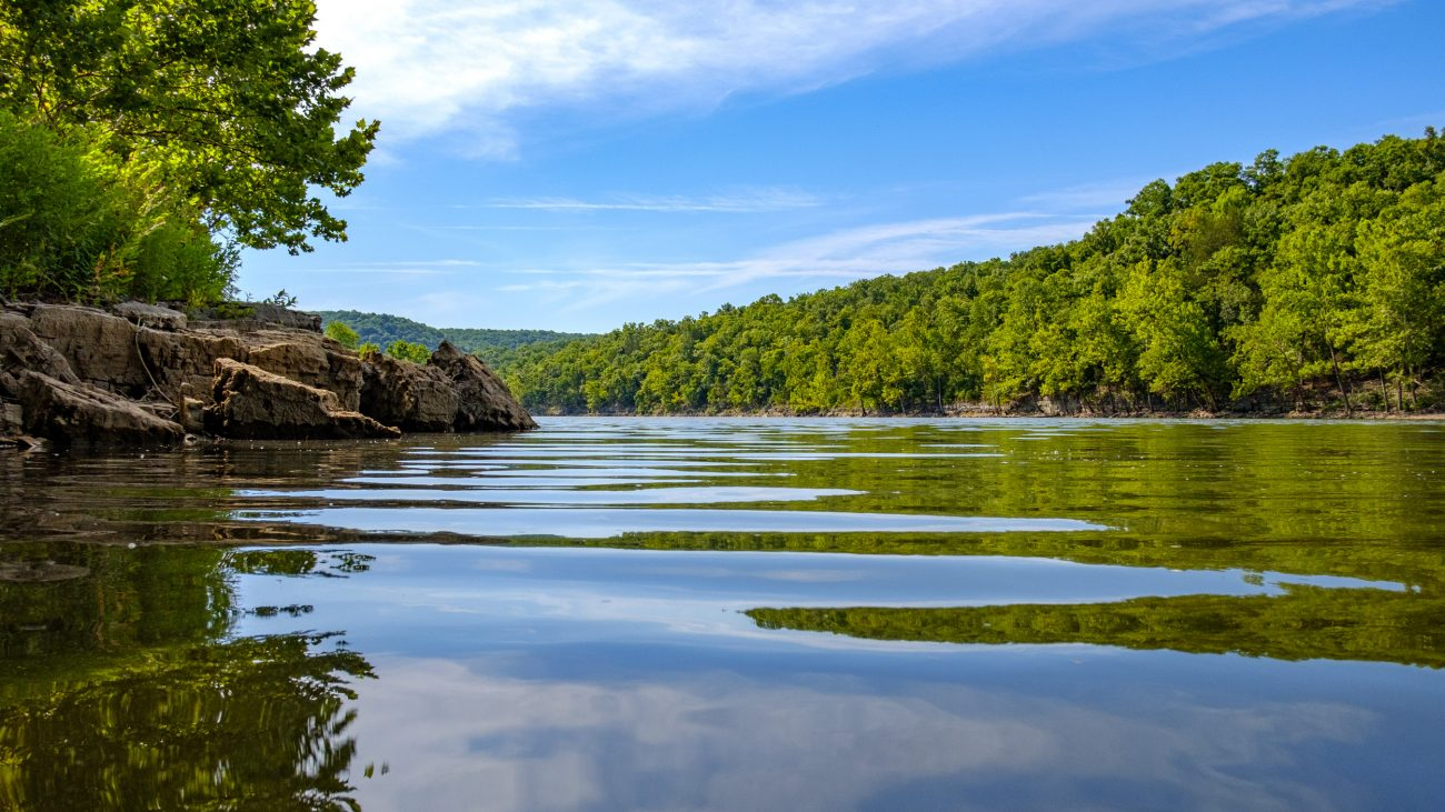 Photograph of the Piney Creek Arm of Table Rock Lake, Piney Creek Wilderness, Mark Twain National Forest