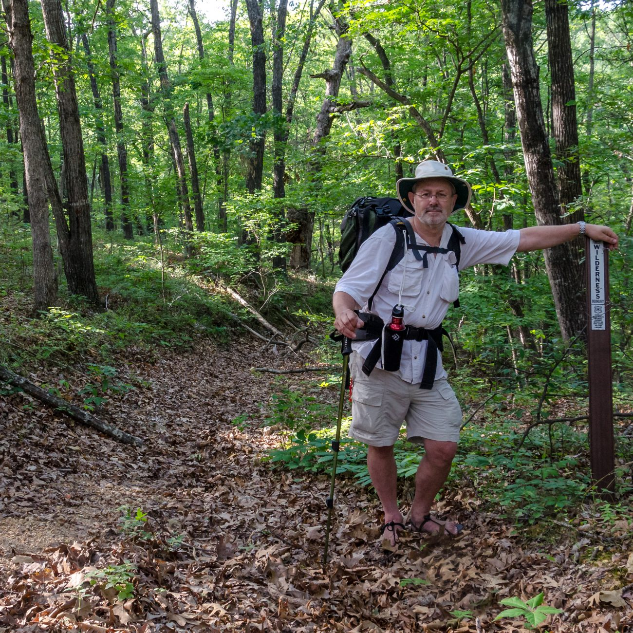 gary Allman in the Mark Twain National Forest at Piney Creek Wilderness Missouri.