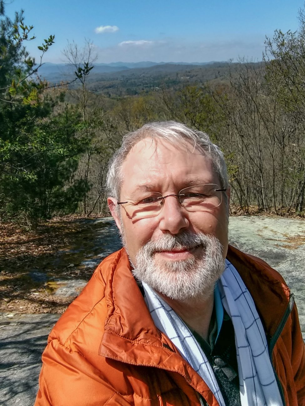 Photograph of Gary Allman on the hiking trails at Kanuga -- Near Hendersonville, North Carolina