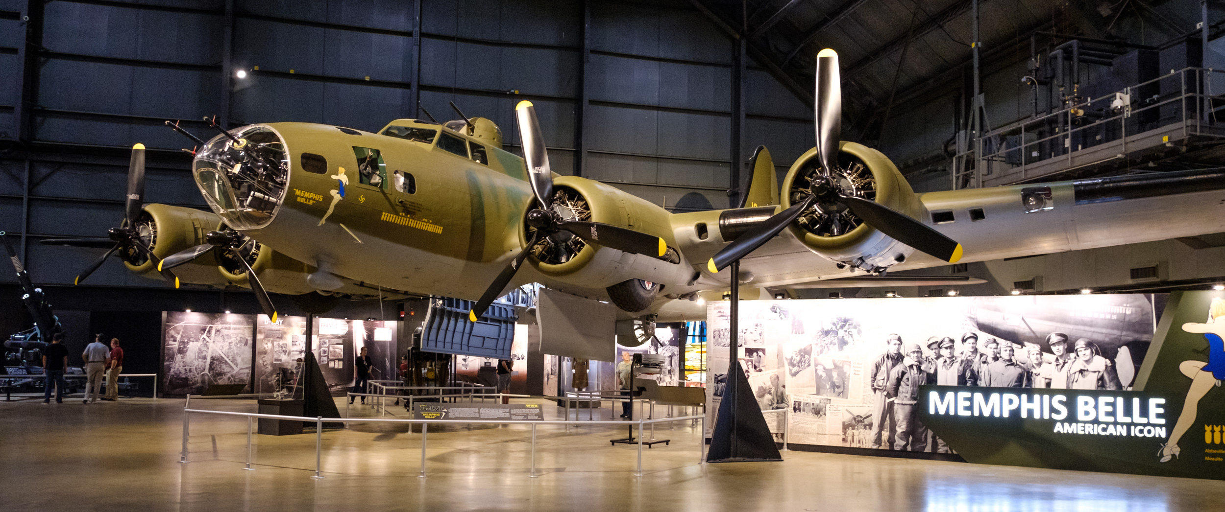 Photograph of Memphis Belle at the National Museum of the US Air Force. Dayton, Ohio.