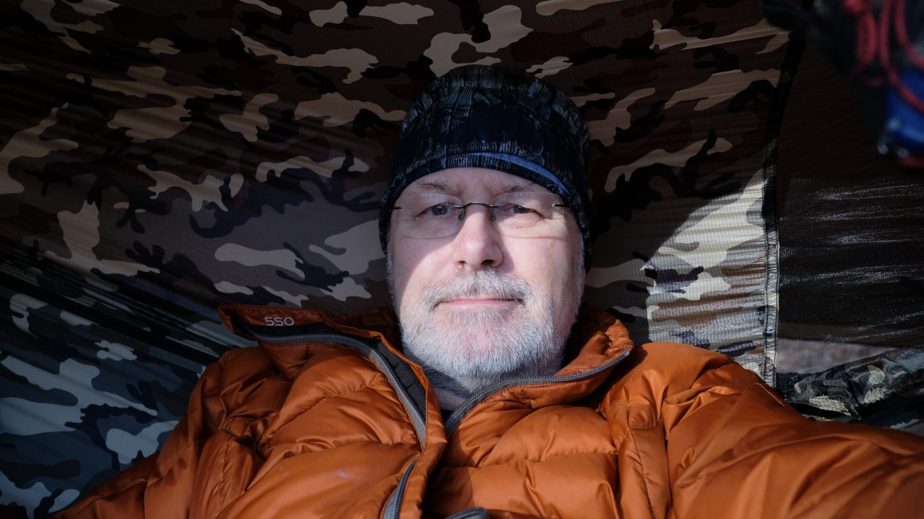 Gary Allman, self portrait. Taken Ill in the Devil's Backbone Wilderness. February 2019.