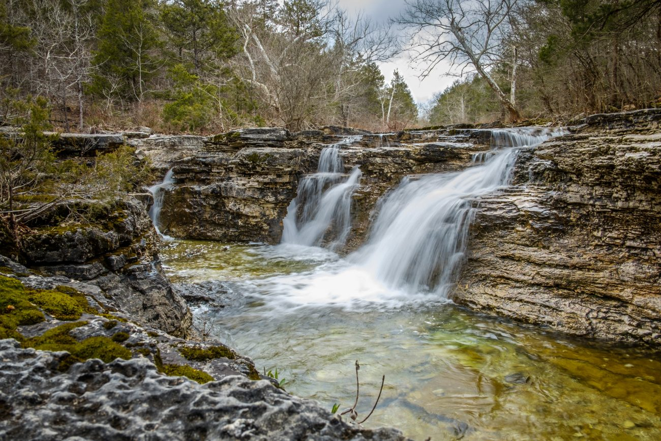 Photograph of The Falls on Long Creek, Hercules Glades Wilderness in the Mark Twain National Forest.