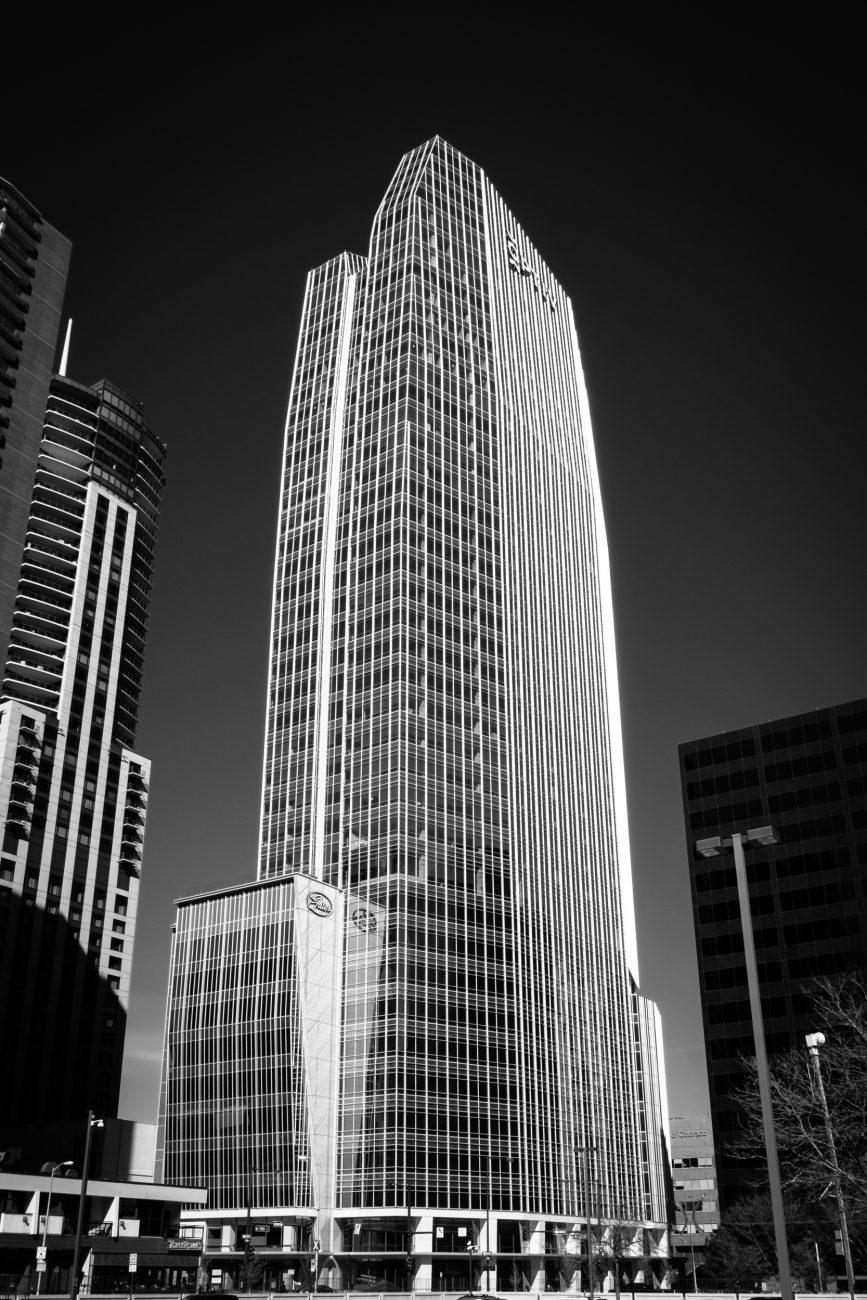 Black and white image of 1144 15th Street, Denver, Colorado