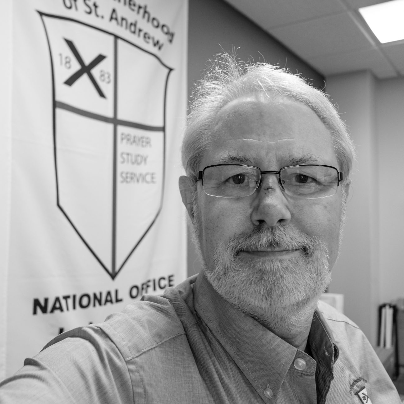 Black and white image of Gary Allman - Springfield, Missouri.