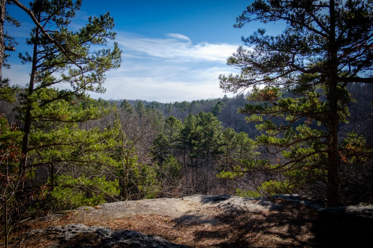 Photograph taken from the scenic overlook on the south loop of the Big Piney Trail, Paddy Creek Wilderness, Missouri